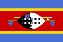 Swaziland Flag. National Curre...