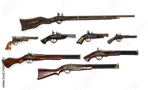 Collection of ancient firearms,rifle,Pistols Wallpaper Mural