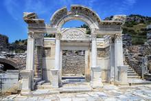 The Temple Of Hadrian Of Ephesus Ancient City