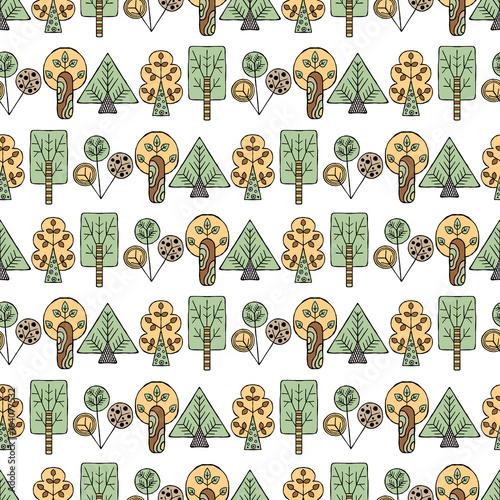 wektor-recznie-rysowane-bez-szwu-desen-dekoracyjne-stylizowane-drzew-dziecinnych-doodle-stylu-plemiennych-ilustracji-graficznych-ozdobne-slodkie-strony-rysunku-seria-doodle-kreskowki-szkic-bez-szwu-wzorow