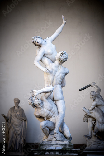 Rape of the Sabine Women. Loggia dei Lanzi Florence. Italy Wallpaper Mural