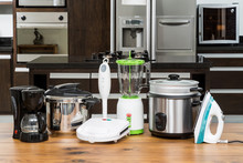 Household Appliances In A Kitc...