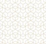 bez szwu geometrycznej linii siatki wektor wzór kostki