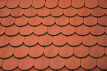Red Roof Vintage Tiles Close
