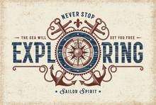 Vintage Never Stop Exploring T...