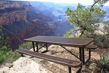 Bench In Grand Canyon