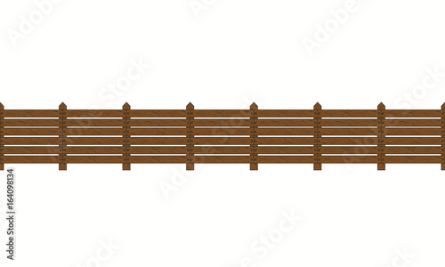 Recess Fitting Bridge Wooden seamless on white background.