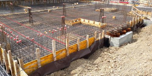 Cantiere edile - tutto pronto per il getto del cemento Canvas Print