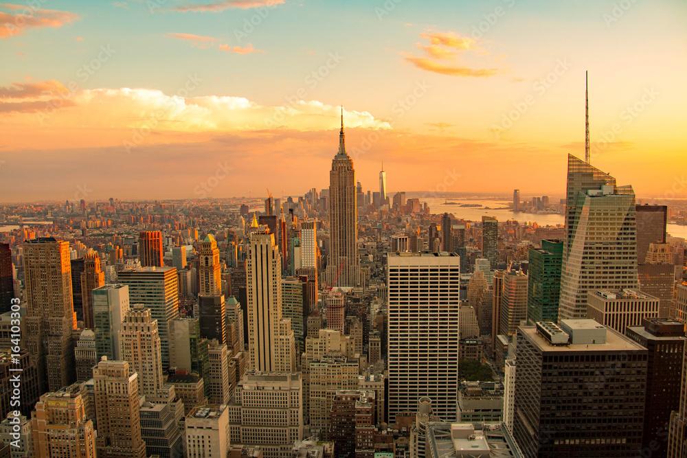 Fototapety, obrazy: New York City skyline, Lower Manhattan