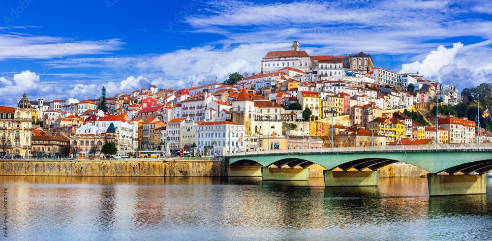 Fototapeta landmarks of Portugal - beautiful Coimbra town