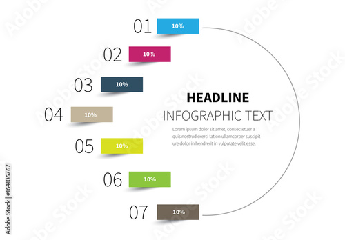 half circle infographic layout buy this stock template and explore
