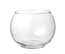 Empty Fish Bowl Isolated On A White Background