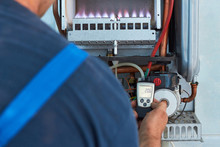 Repair Of A Gas Boiler, Settin...