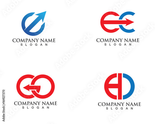 Letters combination logo and symbols   Buy this stock vector and
