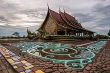 Wat Sirindhorn Wararam Phu Prao In Ubon Ratchathani One Of The Northeastern Provinces Of Thailand.