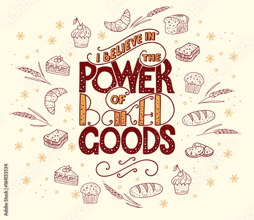 Pinturas sobre lienzo  I believe in power of baked goods