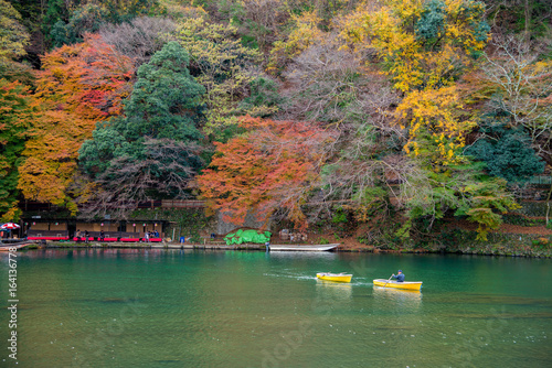 Poster Kyoto Arashiyama in beautiful autumn season, Kyoto, Japan.