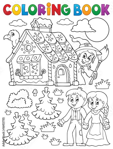 Printed kitchen splashbacks For Kids Coloring book Hansel and Gretel 1