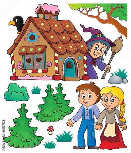 Wall Murals For Kids Hansel and Gretel theme set 1