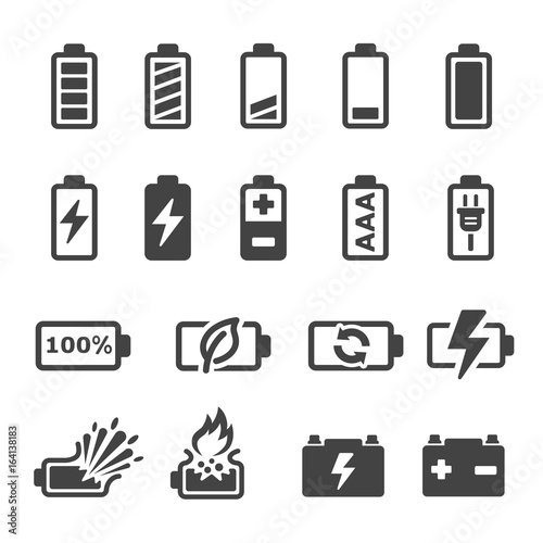 Obraz battery icon - fototapety do salonu