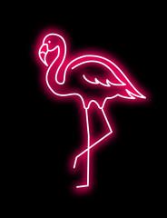 Fototapeta Zwierzęta Pink Flamingo vector neon