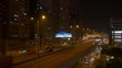 night light time hong kong city traffic street bridge view 4k china
