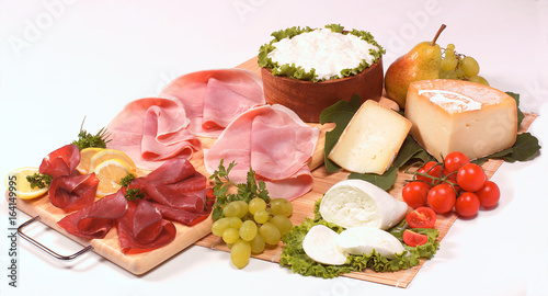 Photo sur Toile Assortiment Salumi e formaggi
