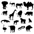 Silhouettes of animals Safaris
