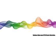 Rainbow Ribbon Wave Isolated