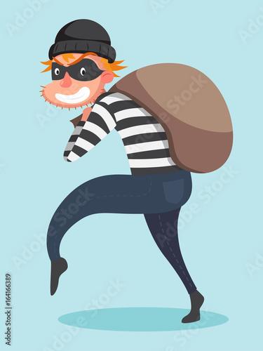 Fotografía  Sneaking thief character.