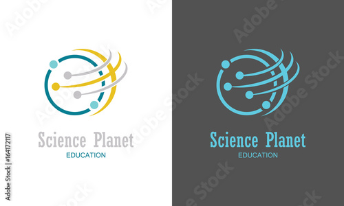 Obraz Science planet logo - fototapety do salonu
