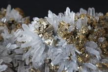 Quartz And Pyrite Crystals