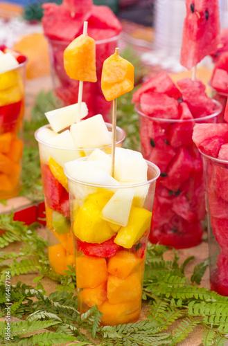 Valokuva macedonia di frutta fresca