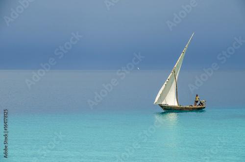 Poster Zanzibar Two fishermen sailing