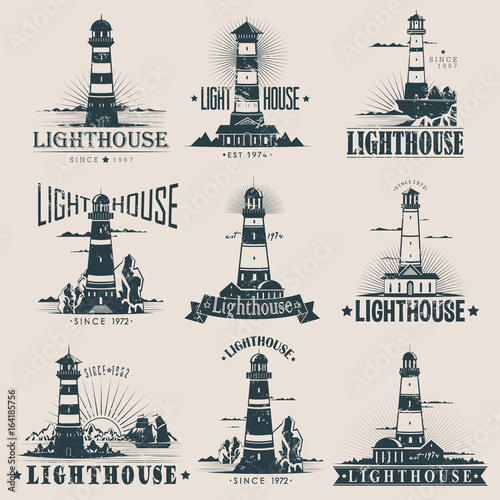 Photo Isolated lighthouse on sea or ocean sketches