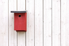 Red Bird Nesting Box