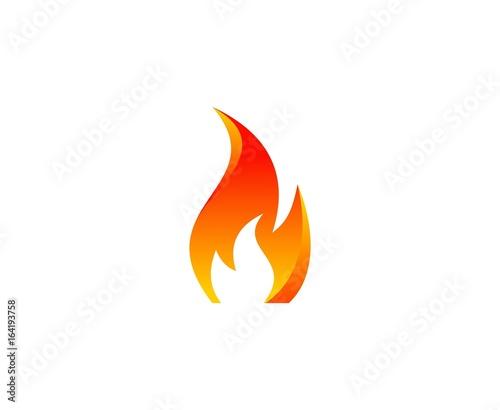 Fire logo Fotomurales