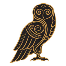 Owl Hand-drawn In Celtic Style