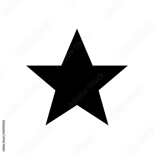 star - Vector icon star Icon Vector / star icon / star- Vector icon. Vector illustration isolated on white background Fototapete