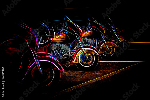Indians 1 Neon Canvas Print