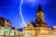 canvas print picture - Brasov, Romania.