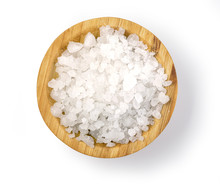 Salt At Wooden Bowl