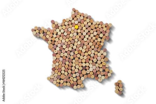 Countries winemakers - maps from wine corks Canvas-taulu