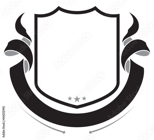 shield and banner for your coat of arms buy this stock vector and rh stock adobe com