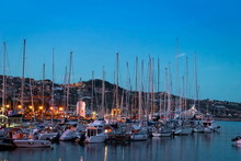 Italy, Boats In The Sanremo Ma...