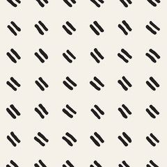 Fototapeta Hand drawn style ethnic seamless pattern. Abstract geometric tiling background in black and white. Vector freehand doodle texture.