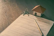 House Keys On The Rental Agree...