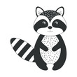 cute and tender raccoon vector illustration design