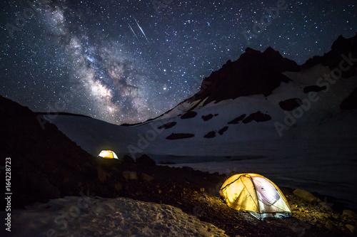In de dag Kamperen Camping Under the Stars