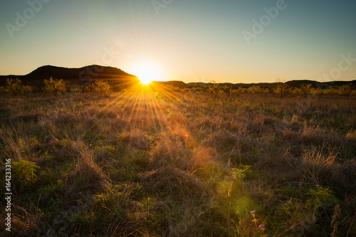 Canvas Prints Honey Sunset over West Texas, near Garner State Park